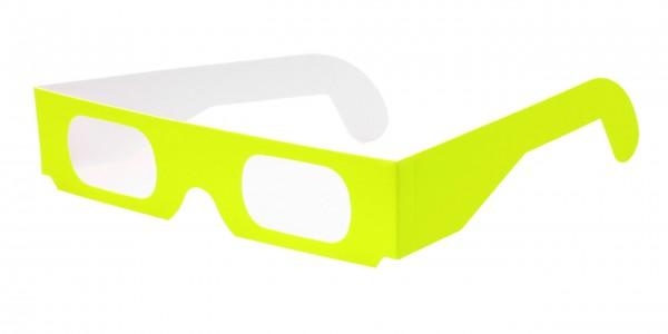 Spektralbrille neon gelb
