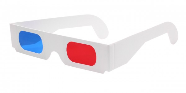 3D Brille rot blau