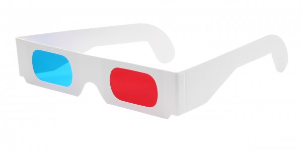 3D Brille rot cyan