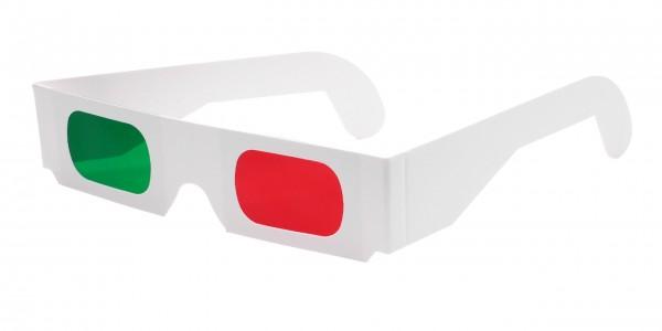 3D Brille rot grün