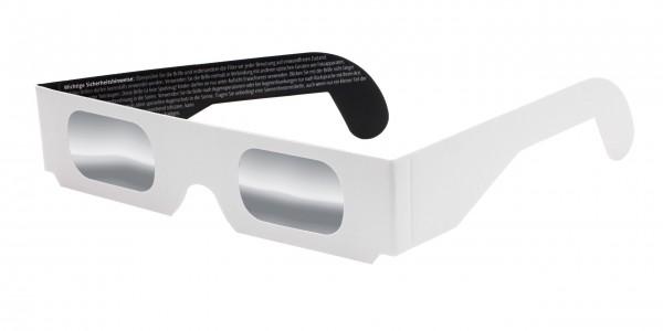 Sonnenfinsternisbrille weiß
