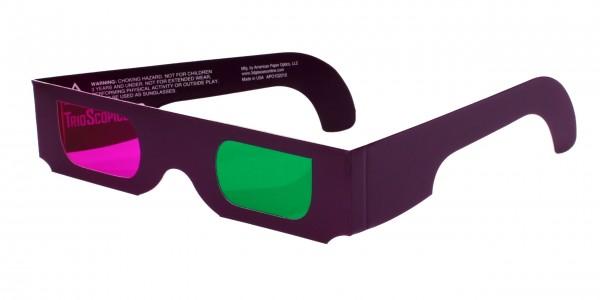 3D Brille grün magenta
