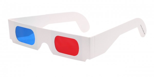 3D Brille rot blau www
